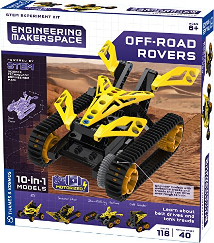 Thames & Kosmos 555063 Engineering Makerspace Off-Road Rovers Science Experiment Kit