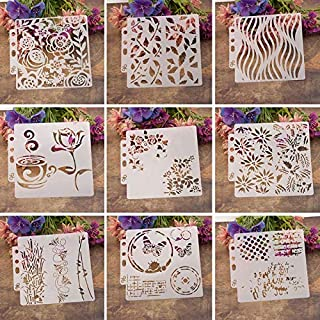 Stamps - Flower Stencils Template Painting Scrapbooking Embossing Stamping Album Card DIY D08F