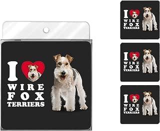 Tree-Free Greetings NC39142 I Heart Wire Fox Terriers 4-Pack Artful Coaster Set