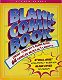 Blank Comic Book (with bonus stencil and blank cover!)