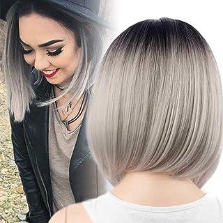 Schulterlange haare schwarz grau