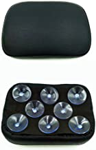 Black Pillion Pad Seat 8 Suction Cup Solo Rear Seat Passenger Saddle For Harley Dyna Sportster Softail Touring XL883 1200 48 (8)