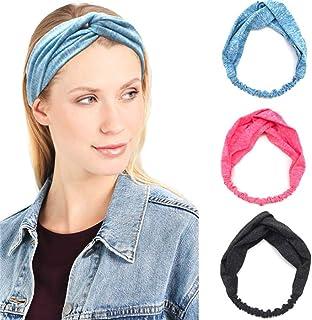 Catery Sport Headbands Criss Cross Headband Headpiece Elastic Turban Twisted Head Wrap Hair Band Stylish Yoga Workout Gym ...