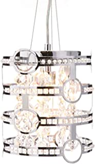 Style Selections Kentley 8-in Chrome Crystal Mini Drum Pendant