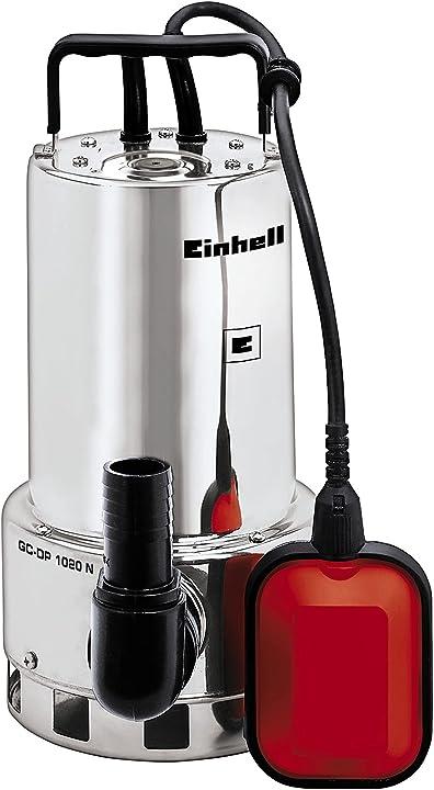 Pompa per acque scure 230 v 1000 w 18000 l/h einhell gc-dp 1020 n 4170773