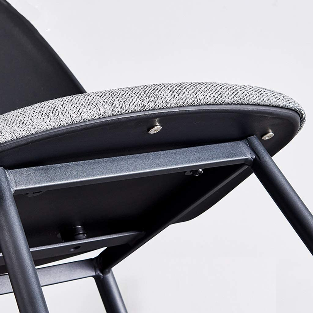 Accent moderne en fer à manger chaise tissu siège chaise chaise jambes courbes chaise de bureau jambes en métal for salon loisirs chaises for chambre (Color : White) Black