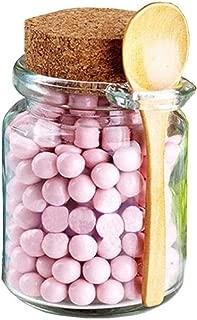 1PCS Clear 250ML 8.5oz Empty Glass Bath Salt Comestic Powder Honey Sauce Kitchen Bottle Jar Pot With Cork Lid Spoon Mask Cream DIY Container