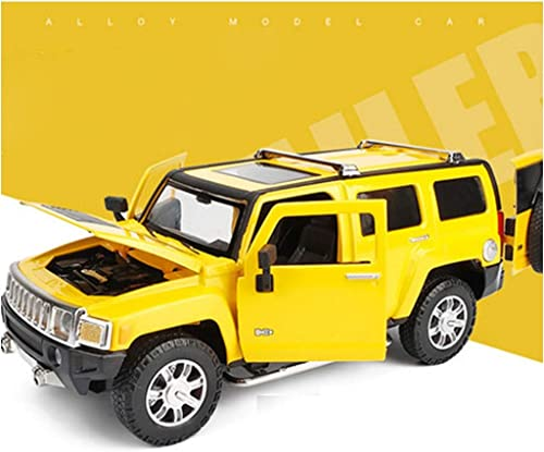 XJRHB Modèle de Voiture SUV Alliage modèle de Voiture 1 24 modèle de Voiture de Simulation Voiture de Jouet, Taille  19.3X8X7.5CM (Couleur   jaune)
