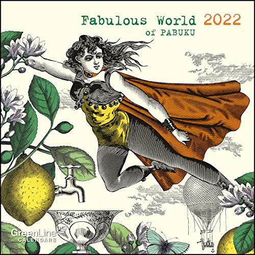 GreenLine Fabulous World of PABUKU 2022 - Wand-Kalender - Broschüren-Kalender - 30x30 - 30x60 geöffnet