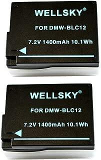 [WELLSKY] [ 2個セット ] Panasonic パナソニック DMW-BLC12 / シグマ BP-51 互換バッテリー [ 純正充電器で充電可能 残量表示可能純正品と同じよう使用可能 ] LUMIX ルミックス DMC-GH2 / DMC-G6 / DMC-G7 / DMC-G5 / DMC-G8 / DC-G99 / DMC-FZ200 / DMW-FZ300 / DMC-FZ1000 / DMC-GX8 / DMC-FZH1 / DC-FZ1000M2 / DC-FZ1000 II