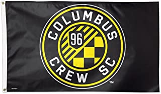 WinCraft Soccer Columbus Crew SC 06960115 Deluxe Flag, 3' x 5'