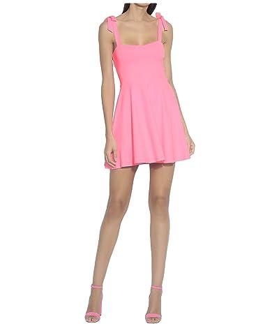 Susana Monaco Tie Strap Flare Dress (Knockout Pink) Women