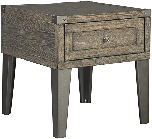 Ashley Furniture Signature Design Chazney End Table Rustic Brown