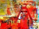 Poster 130 x 100 cm: Zeche Zollverein - Impressionen II von