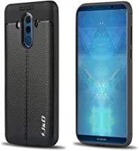 J&D Case Compatible for Huawei Mate 10 Pro Case, [Anti-Scratch] [Leather Texture Pattern] Shock Resistant Protective Rubber TPU Slim Case for Huawei Mate 10 Pro Bumper Case - Black