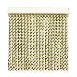 Cortinas Exterior Puerta de Cordon   96 Tiras Plastico PVC y Barra Aluminio   Ideal para Terraza y Porche   Antimoscas   Beige-Marron   210 * 120