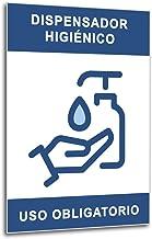 Señalización COVID 19 | Cartel Uso Obligatorio Dispensador de Gel o Jabón | Señal Coronavirus Dispensador Higiénico Autoinstalable | 21 x 30 cm | Descuentos por Cantidad
