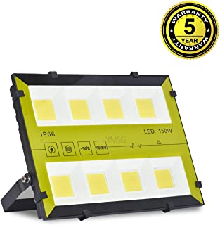 LED Flood Light, 150W Outdoor Waterproof IP66, 15000lm Super Bright Flood Lamp Cool White Spotlight Lamp Daylight for Garden Yard, Playground, Warehouse, Billboard, Commercial