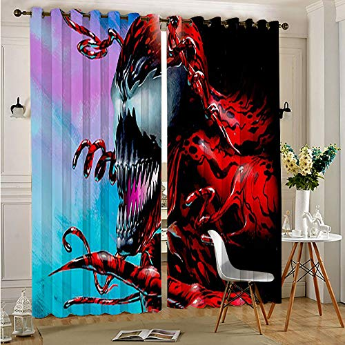 Petpany Avengers Superhero Blackout Curtains Drapes for Kid's Room carnage Thermal Insulating Window Curtains Panels Drapes for Boys and Girls Bedroom 42'x54'