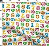 Mathe, Zahlen, Baby Stoffe - Individuell Bedruckt von