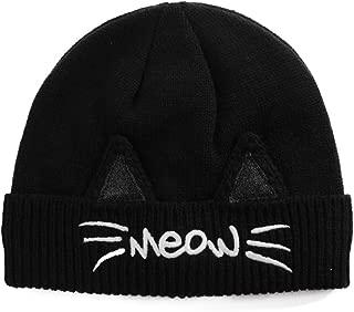 Jeff & Aimy Women's Winter Knitted Pom Beanie Ski Hat/Visor Beanie Newsboy Cap Wool/Acrylic