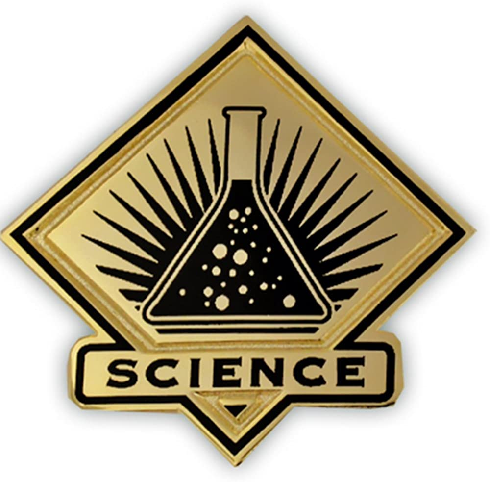PinMart Black and Gold Science Student Teacher New arrival Pin Tampa Mall School Lapel