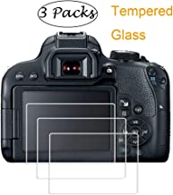 PCTC Tempered Glass Film Compatible for Camera Canon EOS 800D Reble T7i Optical [3 Pack]