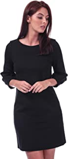 French Connection Womens Luella Ponte Jersey Tunic Dress in Black.