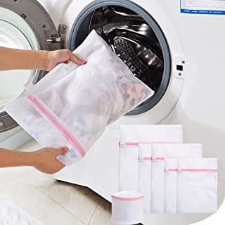 Blau Fablcrew W/äschenetz W/äschebeutel W/äschesack f/ür Waschmaschine dauerhaftmit Rei/ßverschluss f/ür empfindliche W/äsche Waschmaschine Trockner Size 40cm*50cm