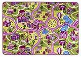Tapis de Jeu pour Enfants avec Routes et Village, Sugar Town, Tapis de Jeu Amusants avec Design Urbain, Certificat Gut/Prodis, Taille:140x200cm