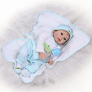 NPK Realistic Reborn Baby Doll Soft Silicone Vinyl Look Real Babies Boy 22inch Weighted Newborn Lifelike Toddler Kids Toy for Ages 3+