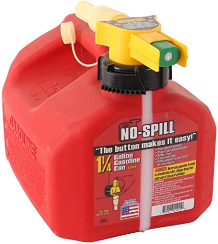 No-Spill 1415 1-1/4-Gallon Poly Gas Can (CARB Compliant): image
