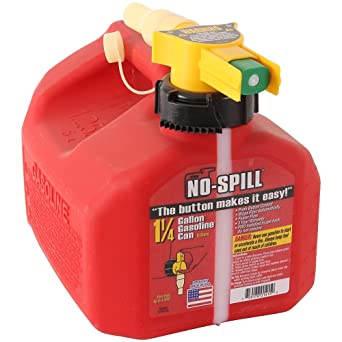 """No Spill 1415 1-1/4-Gallon Poly Gas Can (CARB Compliant),Red, 7.5"""" x 8"""" x 10"""": image"""