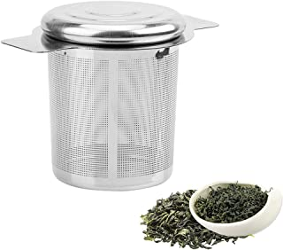 iTimo Fine Mesh Reusable Tea Strainer with 2 Handles Stainless Steel Lid, Tea and Coffee Filters Tea Infusers