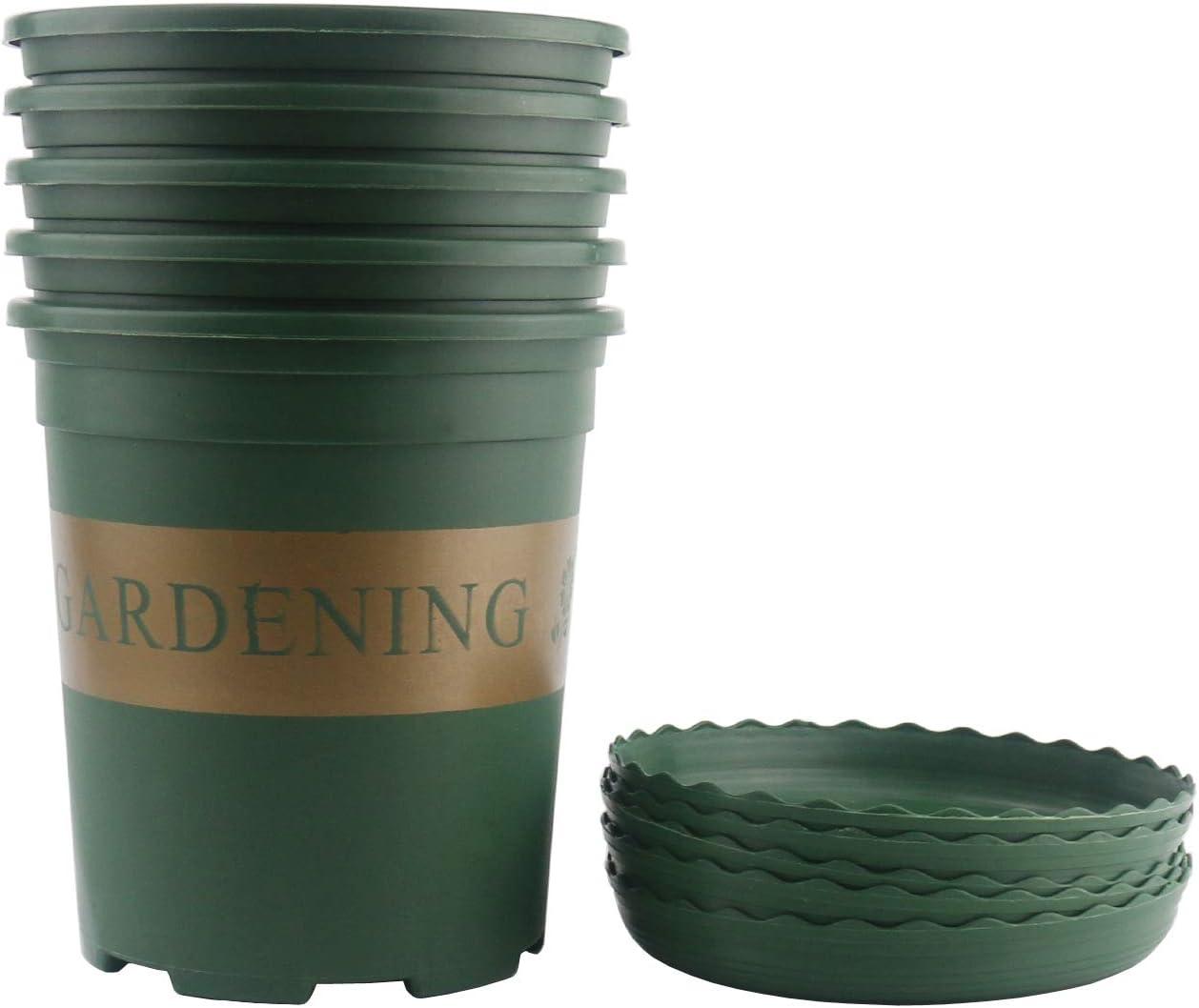 Ogrmar 5PCS Gallon Durable Nursery Pot Excellence Planter Garden Ranking TOP2 Nurse Pots