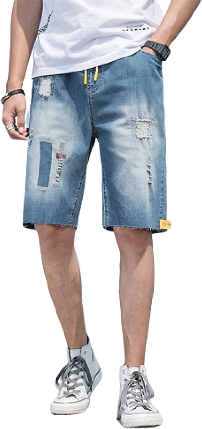 Shorts Men's Summer Ripped Five-Point Pants Loose Casual Plus Size Jeans