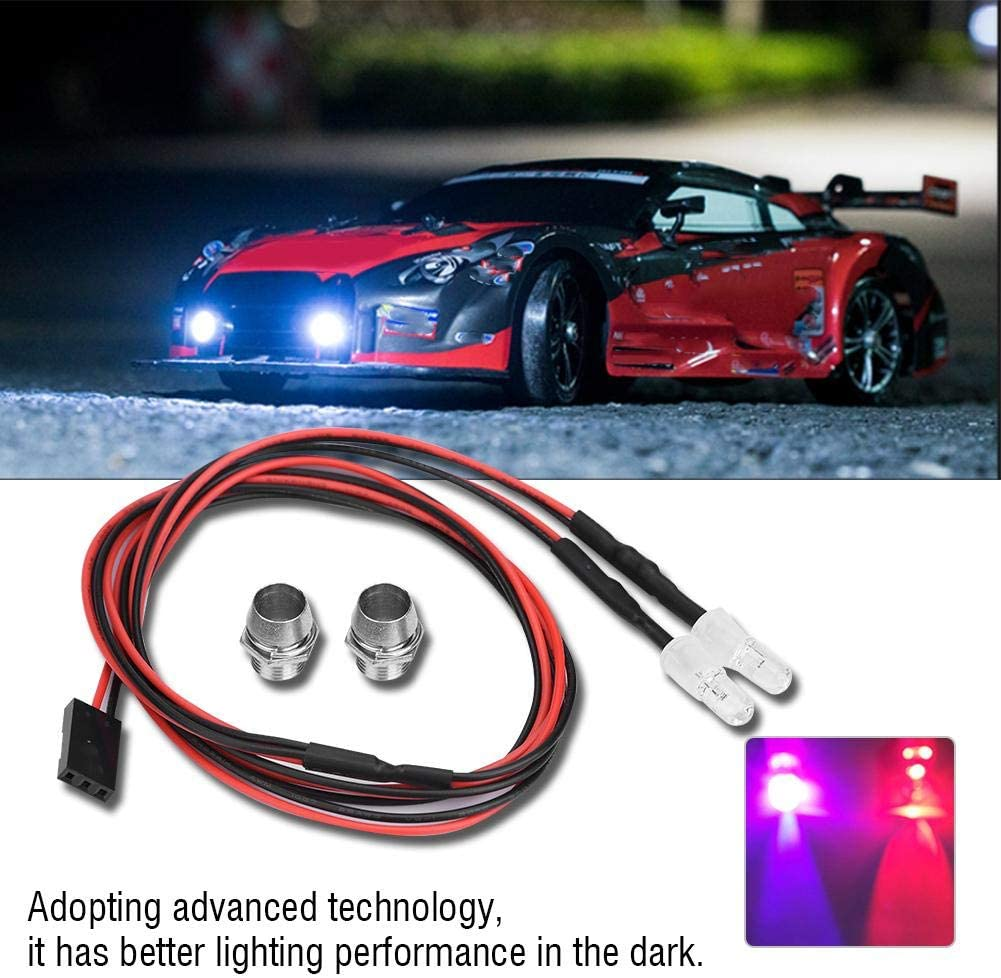 RC Light 10# Colors Light 2PCS 5mm Headlights RC Accessory LED Lights Compatible with 1//10 Model Drift Car Vehicle