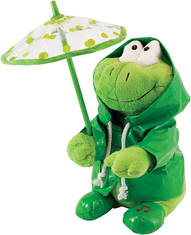 Paddy Grün Frog Sings Singing in the Rain by Cuddle Barn [Toy] by Cuddle Barn