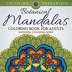 Botanical Mandalas Coloring Book For Adults