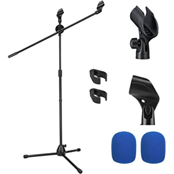Black Plastic Microphone Clip-Holders for Microphone Stand New Lot of 10
