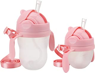 Weighted Straw Sippy Cup Conversion Kit, Compatible for Comotomo Baby Bottle, 5 Ounce and 8 Ounce (2 Packs, Pink)
