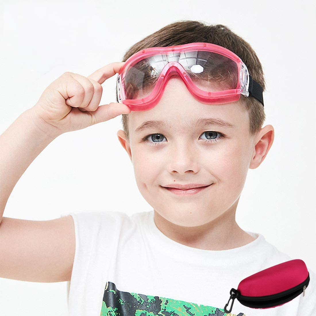 Gafas de protección para niños, a prueba de golpes, lentes balísticas, antivaho, ajuste ajustable para niños y niñas de 5 a 12 años de edad.