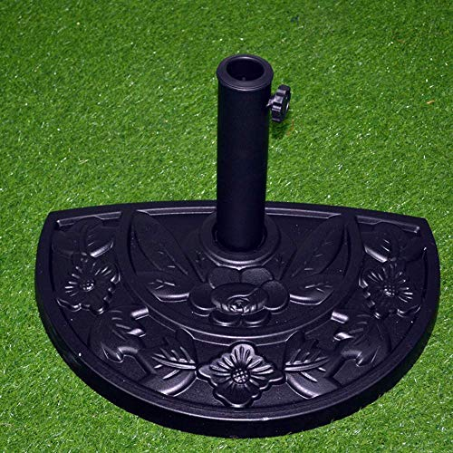 LXYZ Gartenschirm, Halbrunder Sonnenschirm-Ständer aus Harz 9,5 kg Schirmständer, Garten, Zubehör für den Außenbereich, Balkon, Terrasse, Terrasse, halber Regenschirm