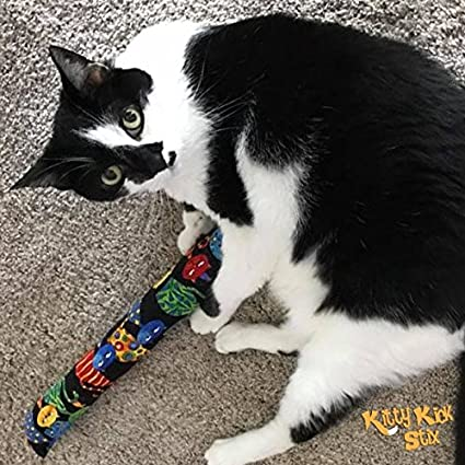 Kitty Kick Stix 15 Original Catnip Kicker Toy Chase The Mouse Set of 2