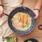 Tazón de Sopa de cerámica Retro Estilo del Norte de Europa Tazón de Sopa de Ramen casero Creativo/Ensalada/Pasta/Cereal/Bocadillos/Tazones de Sopa t