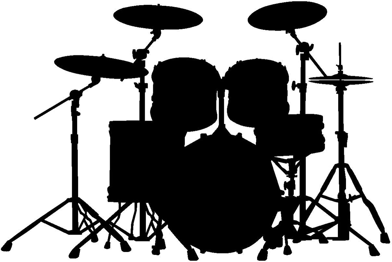 Samunshi® Wandtattoo Schlagzeug Wandaufkleber Wandaufkleber Wandaufkleber Trommel in 8 Größen und 19 Farben (100x67cm schwarz) B0150F1S82 715b57