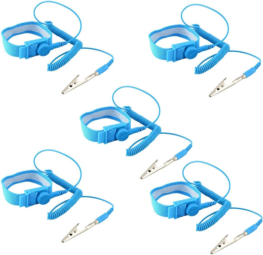 HiLetgo Year-end annual account 5pcs Anti Static Wrist Strap with Gro Discharge ESD New sales Clip