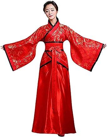 018105bb5c2 Meijunter Chinois Ancien Femmes Hanfu - Traditionnel Costume Élégant Rétro  Tang Suit Scène Robe