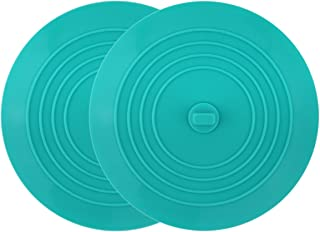 tifanso 2 Pack Silicone Tub Stopper Recyclable Bathtub Drain Stopper Upgraded Drain Plug Cover for Bathrooms and Laundries Kitchen Universal Use 6 inches (Teal)