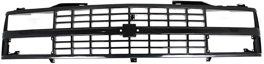 Best Grille Assembly Compatible with 1988-1993 Chevrolet K1500 Black Shell and Insert with Quad or Composite Headlights Review